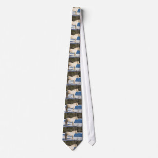 White Horse In Winter Rural Maine Neck Tie