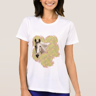 White Horse in Yellow Flowers T-Shirt