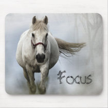 White Horse - Inspirational - Mouse Pad
