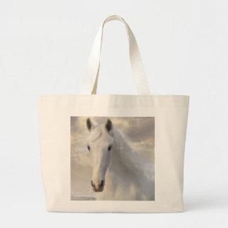 white horse jumbo tote bag