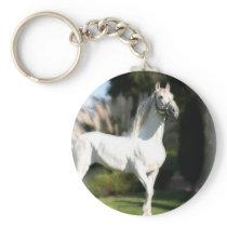White Horse Keychain