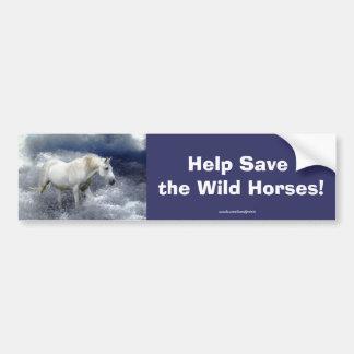 White Horse Lover Equine Bumper Sticker