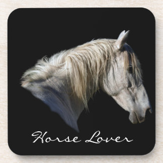 White Horse Lover Equine Coasters