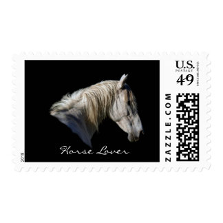 White Horse Lover Equine Postage Stamps