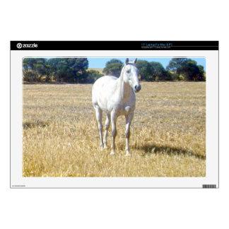 "White_Horse,_Meadow,_ 17"" Laptop Skin"
