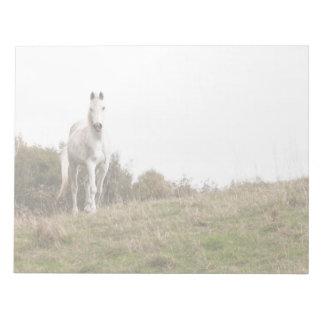White horse memo pad
