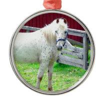 White Horse Metal Ornament