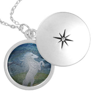 White Horse & Moon Locket
