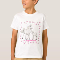 "White Horse - ""My Beautiful horse"" T-Shirt"