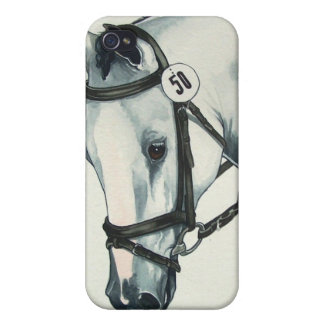 White Horse On Contact iPhone 4/4S Cover