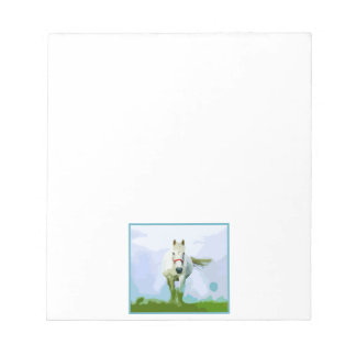 White Horse Painted Portrait Notepad