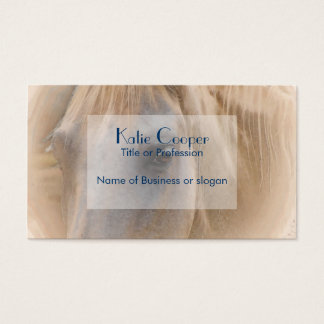 White Horse Portrait Business Card