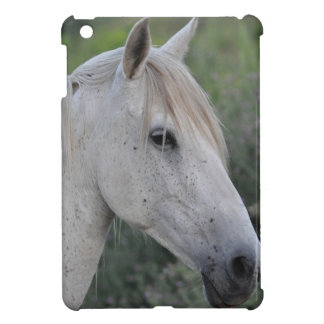 White Horse Portrait Horse-lover's iPad Case