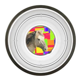 White Horse Portrait Painting Pop Art Bowl