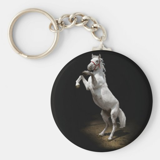 White Horse Prancing Key Chains