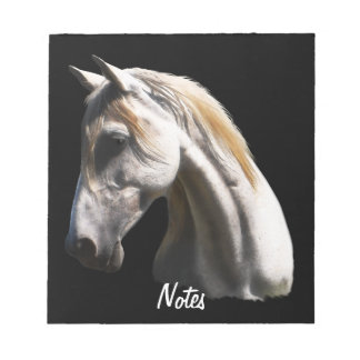White Horse profile Equine-lover's Notepad