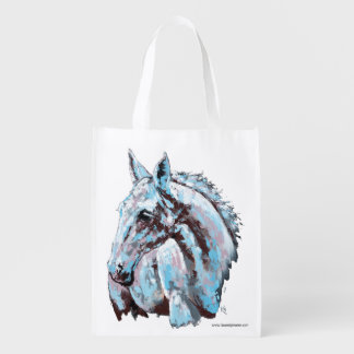 White Horse Reusable Grocery Bags