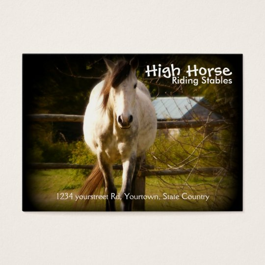White Horse Riding Stable Equestrian Business Card