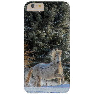 White Horse Running in Winter Snow Photo Barely There iPhone 6 Plus Case