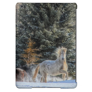 White Horse Running in Winter Snow Photo Cover For iPad Air