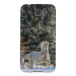 White Horse Running in Winter Snow Photo Galaxy S5 Cases