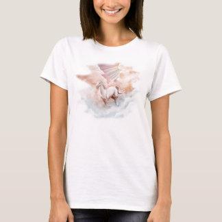 White Horse Running Trough Clouds T-Shirt