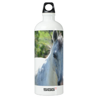 White horse. SIGG traveler 1.0L water bottle