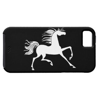 White Horse Silhouette iPhone 5 Case