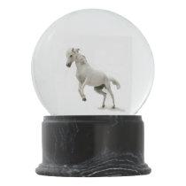 White Horse Snow Globe
