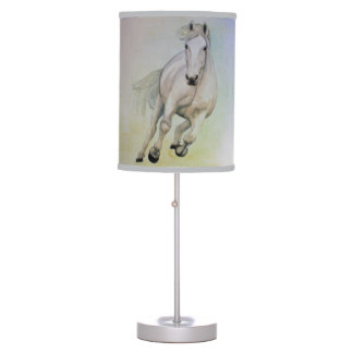 Horse table pendant lamps zazzle white horse table lamp aloadofball Image collections