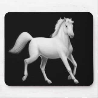 White Horse Trotting Mousepad