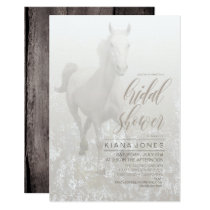 White Horse Wedding ID649 Invitation
