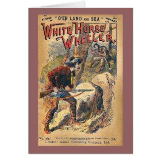 White Horse - Western Dime Novel - Vintage Card