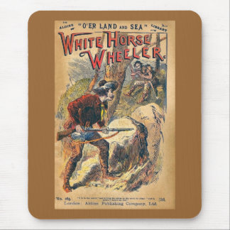 White Horse - Western Dime Novel - Vintage Mouse Pad