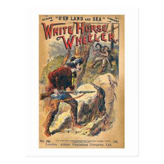 White Horse - Western Dime Novel - Vintage Postcard