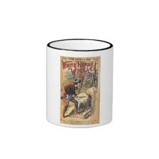 White Horse - Western Dime Novel - Vintage Ringer Mug