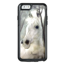 White Horse with Name OtterBox iPhone 6/6s Case
