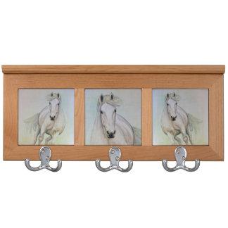 White Horses Coat Rack