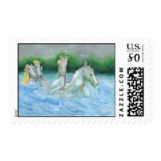 White Horses (med) stamp