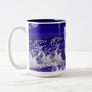 White Horses mug