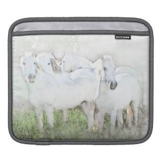 White Horses Painting iPad and MacBook SLeeve