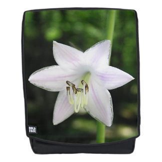 White Hosta Flower Backpack