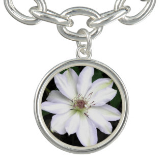 White Hosta Flower Bracelet