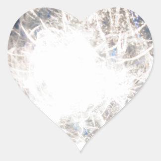 White hot heart sticker
