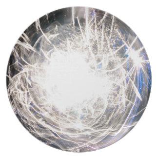 White hot melamine plate