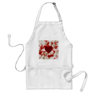 White Hot Red Heart Adult Apron