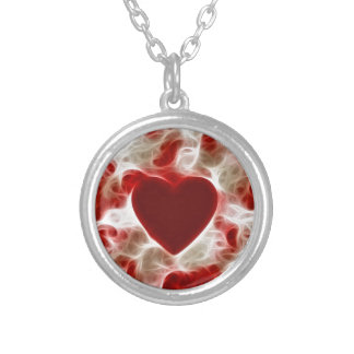 White Hot Red Heart Necklace