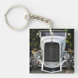 White Hot-Rod Keychain
