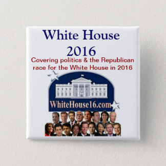 White House 2016 Button
