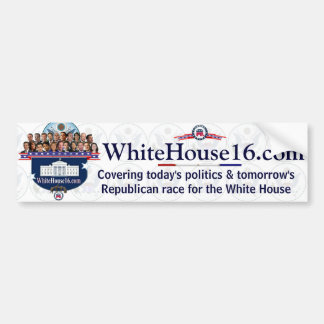 White House 2016 G.O.P. Presidential Candidates Bumper Sticker